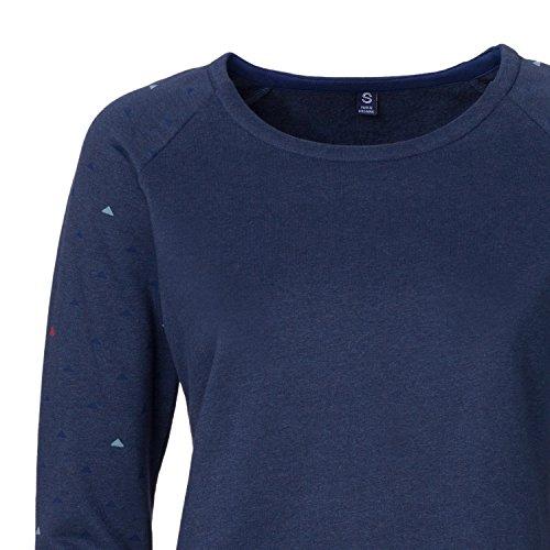 ThokkThokk Pythagoras Sweater Woman Midnight Melange Fairtrade GOTS