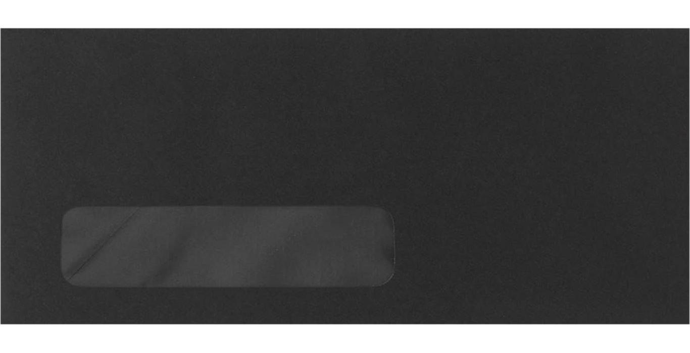 #10 Window Envelopes (4 1/8 x 9 1/2) - Midnight Black (500 Qty.)