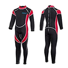 IREENUO Kids Wetsuit Neoprene 2.5mm Thick Long Sleeve One Piece for Girls Boys