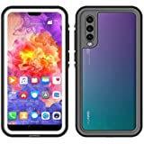 Waterproof Case for Huawei P20 Pro 360 Full Cover Protection Shell for Huawei P20 / P20 Pro Diving Underwater Shockproof Coque (White,Huawei P20)