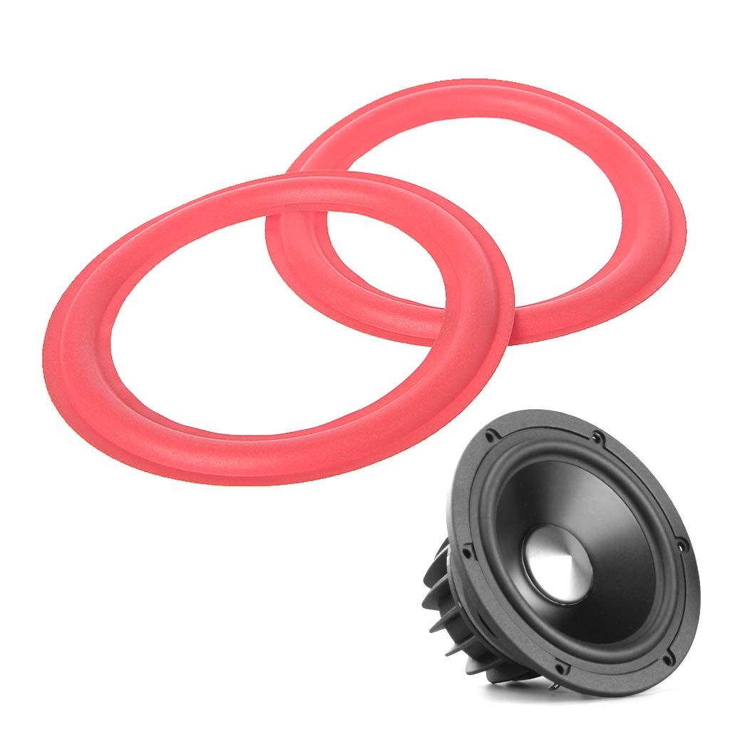 Set de 2 Rouge SimpleLife Enceinte de Haut-Parleur Subwoofer en Mousse Accessoires de r/éparation pour Haut-parleurs de Grave 6,5 Pouces