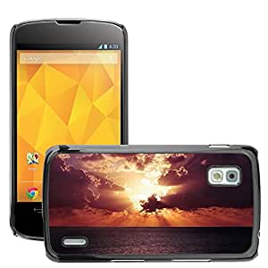 Cas Coq Case Cover // M00421336 Horizon Sky Sunset Océano Mar // LG Nexus 4 E960