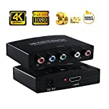HDMI to YPbPr Component, NewBEP 4K HDMI to RGB Converter Adapter with Power Supply   Video and R/L Audio Output for Macbook Apple TV Amazon Fire TV Blu-Ray DVD PS4 Xbox Wii Etc