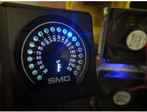 TM-1 LED Temperature Monitors w//Cooling Fan Output 2 SMD Dual Zone