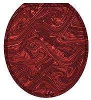 Toilet Tattoos TT-1060-R Bordeaux Decorative Applique for Toilet Lid, Round