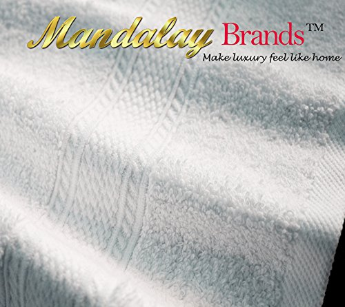 Luxury Hotel & Spa set of 6-piece Towels, 750GSM,100% Long Staple Combed Cotton. Premium set of 2 bath towels, 2 hand towels, 2 washcloths, Color (White) by Mandalay Brands (Image #3)