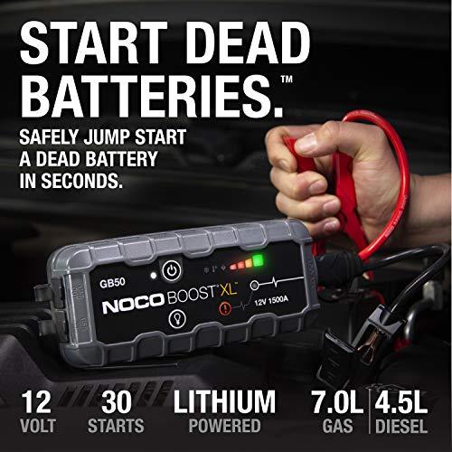NOCO Boost XL GB50 1500 Amp 12-Volt UltraSafe Lithium Jump One Size, Multi