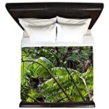 CafePress - Rainforest Ferns - King Duvet Cover, Printed Comforter Cover, Unique Bedding, Microfiber