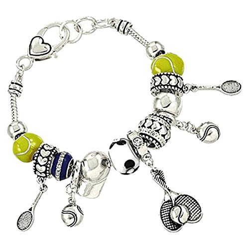 Silvertone Beautiful Sports Closure Bracelet product image