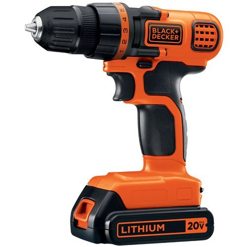 BLACK+DECKER 20V MAX Cordless Drill / Driver, 3/8-Inch (LDX120C) (Decker And Drill 20v Black)