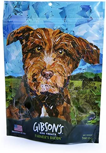 Gibson s Farmer s Bacon – Human Grade USA Soft Jerky Dog Treats, 3 oz