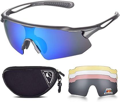 Snowledge Gafas de Ciclismo con Lentes Intercambiables Gafas de Sol polarizadas Deportivas Hombres Hombres Gafas de Sol de Ciclismo con protección UV400: Amazon.es: Deportes y aire libre