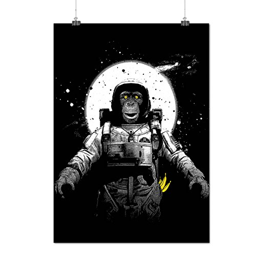 [Space Monkey Moon Planet Ape Matte/Glossy Poster A3 (12x17 inches) | Wellcoda] (Dr Strange Modern Costume)