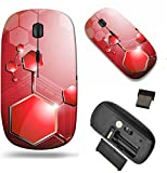 MSD Wireless Mouse Travel 2.4G Wireless Mice with USB Receiver, Noiseless and Silent Click with 1000 DPI for notebook, pc, laptop, computer, mac book design: 34827215 Polygon Abstract Network Backgrou