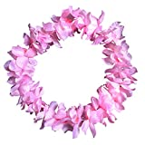 Alelife Festival Ball Counts Tropical Hawaiian Luau Flower Lei Party Favors Party Wreath Decoration (Pink)