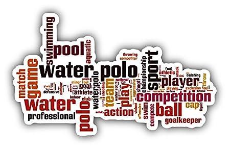 Water Polo Word Cloud Pegatina de Vinilo Para la Decoracion del ...