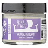 PRIMAL PIT PASTE Natural Lavender Deodorant Jar, 2 Ounce