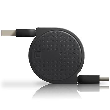 ACOCOBUY USB C Cable Carga Rapida,Cable USB Tipo C Retráctil,Cable de Extensor USB3.0 Cable,Organizador Cable para Samsung s8 s9 Plus,Sony Xperia ...