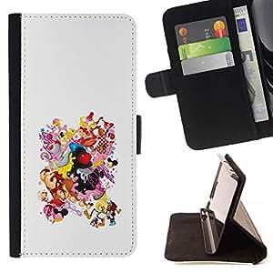 Momo Phone Case / Flip Funda de Cuero Case Cover - Dibujo Smiley Tetas Culo Mujer Cuerpo - HTC DESIRE 816
