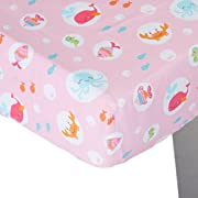 Carter's Sea Collection Fitted Crib Sheet, Pink/Blue/Turquoise (Discontinued by Manufacturer)