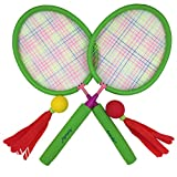 Aoneky Badminton Racket Set for Kids, Hot Outdoor Toys for Children Above 3 Years Old, Best Gifts for Boys Girls, Green