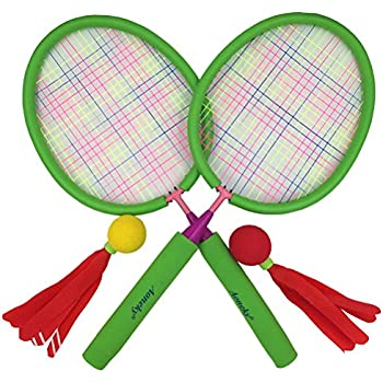 Amazon.com : Badminton Set for Kids with 2 Rackets, Ball and ...
