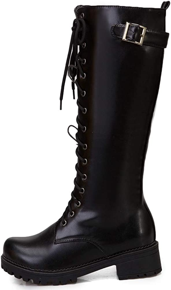 Womens Platform Knee High Boots