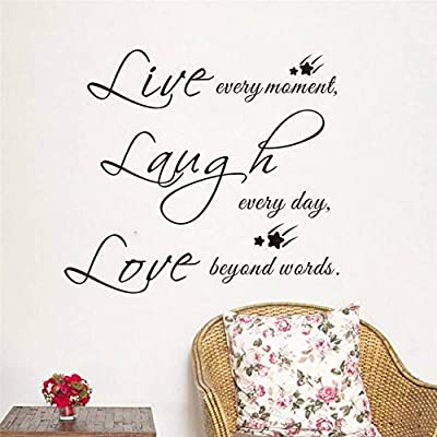 Wadhk Inspirational Live Laugh Love Quotes Wall Decals Home Decor Living Room Pvc Wall Decals Print Letters Mural Buy Online At Best Price In Uae Amazon Ae