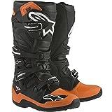 Alpinestars Adult MX Tech 7 Motocross Boots Black Orange White Size 8