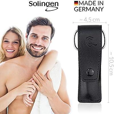 marQus set de manicura de 3 piezas de Solingen Alemania - Lima, tijeras y pinza de acero, ideal para viaje, estupendo como regalo para mujer y hombre, color negro: Amazon.es: Belleza