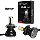 5 3 4 headlight conversion kit - LED headlight,IMOSONTEC A Pair of LED Headlights For Cars Super Bright Headlight Bulbs Conversion Kit Headlamps H4/H13/9004/9007 With 40W/80W Two outputs 3K-8K color temp (H4 H/L, White/6K)