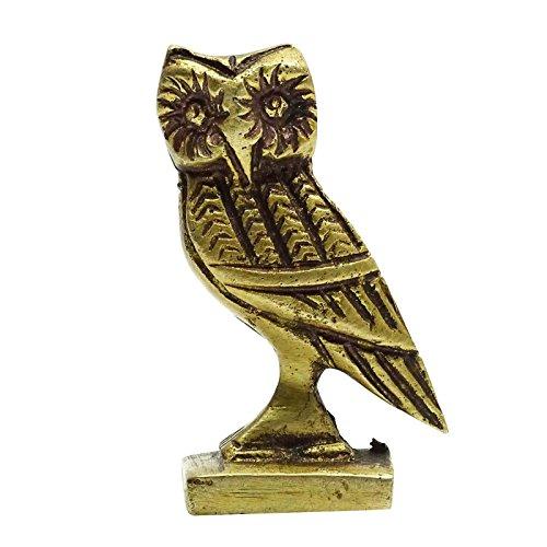Indian Bronze Sculpture Figurine Handmade Home Decor Statue Antique Small Owl