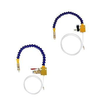 1,25m Nebel K/ühlmittel Spr/ühmittel f/ür 8mm Luftrohr CNC-Drehmaschine Bohrmaschine MagiDeal 1m
