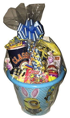 Minions Large Happy Easter Basket Deluxe Celebration for Girls and Boys with Eggs candy toys surprise holiday gift set USA SELLER FAST (Red Usa Deluxe Dress Up Set)