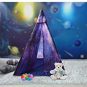 Sunba Youth Indoor Kids Teepee Play Tent, Outdoor Galaxy Princess Tent Play House for Boys& Girls