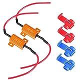 Meiyiu LED Load Resistor 25W 25ohm for Turn Signal LED License Plate Lights & DRL 25W 25ohm 2Pcs