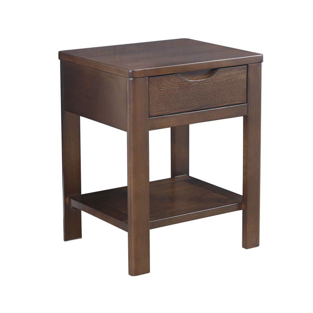 Amazon.com: Bedside table Dressing Table Solid Wood Bedside Drawer ...