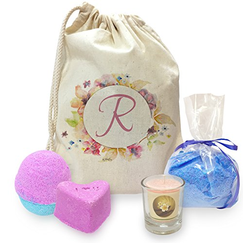 Twisted Envy R Floral Letter Border Initial Mini Spa In A Bag Collection 4 ()