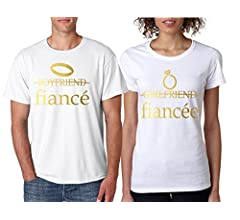 6618c4b289 Allntrends Couple T Shirts Fiancee Fiance Love Engaged Proposal ...