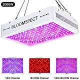 BLOOMSPECT 2000W LED Grow Light: Full Spectrum for Indoor Hydroponics Greenhouse Plants Veg and Bloom (200pcs 10W LEDs)