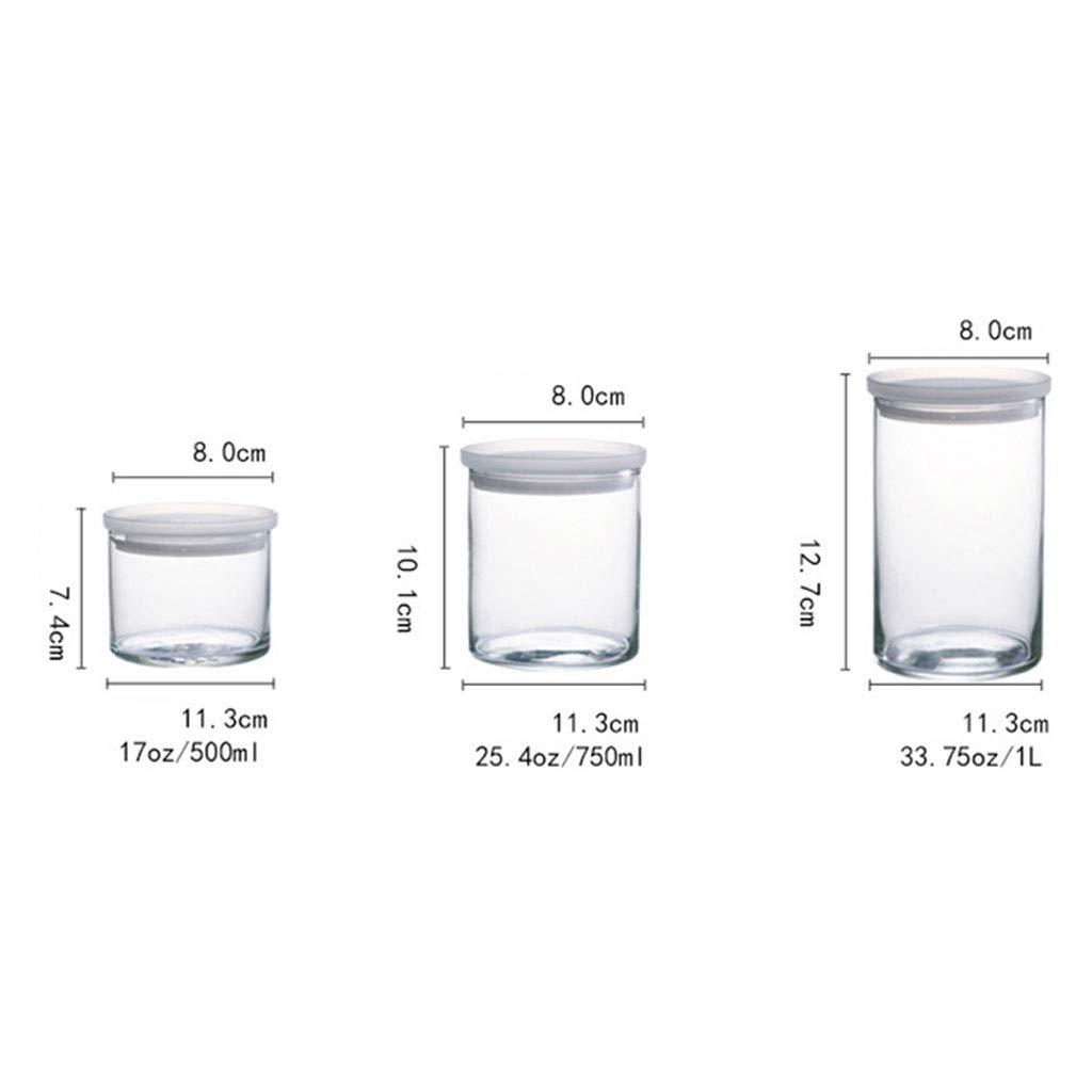 Botellas de vidrio cocina latas selladas Food Jam Coffee Tea granos jarra de almacenamiento con tapa XIN (Capacidad : 650ml): Amazon.es: Hogar