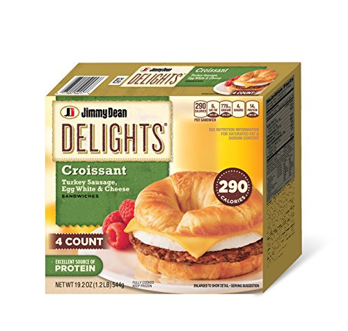 Jimmy Dean, Delights Turkey Sausage Croissant, 4 ct -