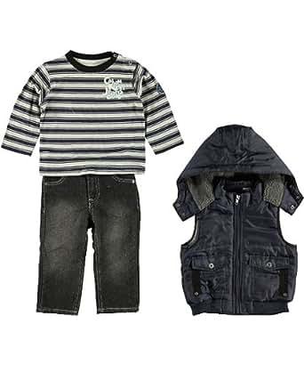 Calvin Klein Infant Boys Navy Blue Vest Stripe 3Pc Pant Set Size 24M
