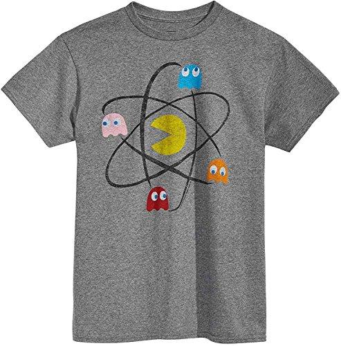 Changes Pac-Man Atom Men's Gray Shirt, M to XXL