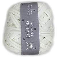 Crochela Cotton-Polyester Tshirt Yarn (White)