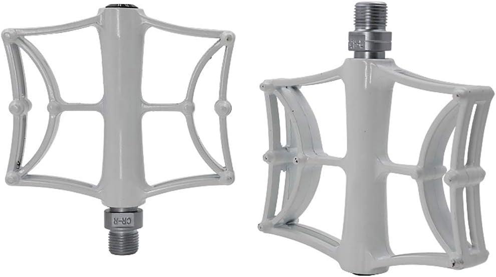 PEDALES de Bicicleta de Aluminio, Cojinete CNC Ultraligero Aleación Pisada Grande Diseño Hueco MTB Montaña Accesorios para Bicicletas,White: Amazon.es: Deportes y ...