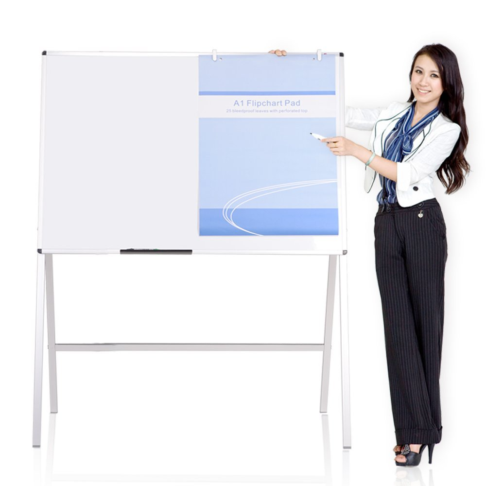VIZ-PRO Magnetic H-Stand Whiteboard/Adjustable Dry Erase Easel, 60 x 36 Inches Zhengzhou Aucs Co. Ltd.