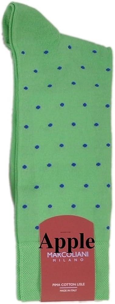 Marcoliani Milano Mens Mid Calf Apples Pima Cotton Lisle Socks