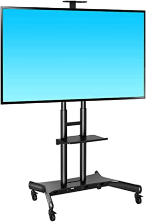 Mobile TV Cart LCD Stand Ordenador Monitor Stand móvil TV Carro Piso Soporte Altura Ajustable para 50-80