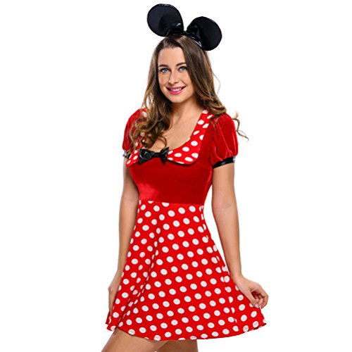 Walking Illusion Costumes (BYY Polka Dot Mouse Costume(Size,S))